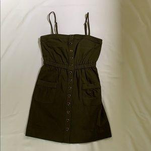 Shoshanna fatigue olive green dress